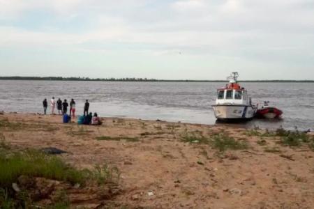 Ahogado río Paraná.