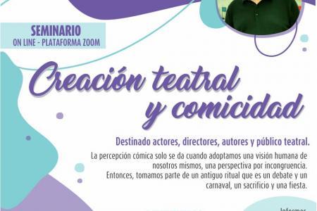 Seminario online sobre Creación Teatral y Comicidad