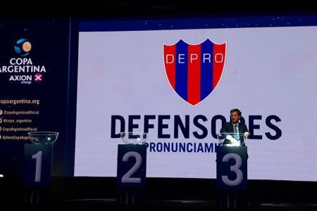 Defensores de Pronunciamiento enfrentará el 10 de febrero a River por la Copa Argentina
