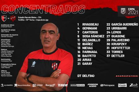 En Patronato, Iván Delfino propondrá cuatro cambios para visitar a Newell's