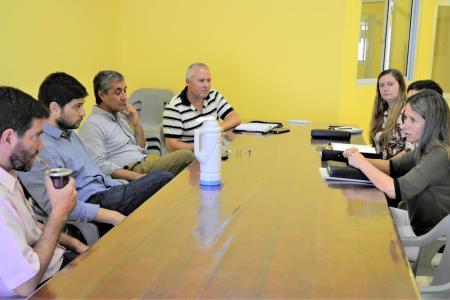 reunión con funcionarios de Nogoyá