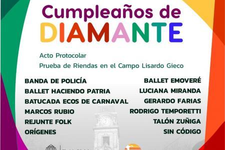 Festejos aniversario Diamante