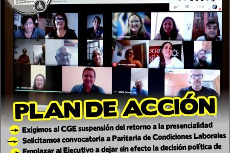 AGMER plenario de secretarios generales virtual