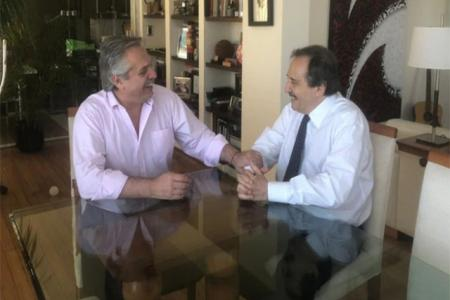 Alberto Fernández con Ricardo Alfonsín