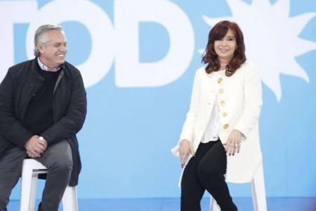 El Presidente y la vicepresidenta, Alberto Fernández y Cristina Kirchner.
