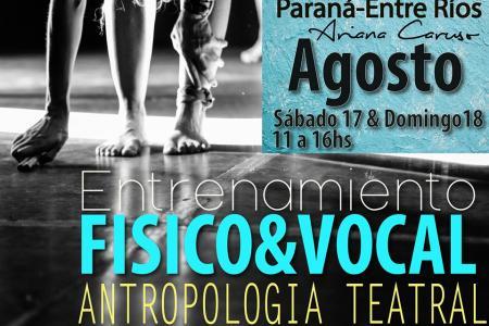 Workshop en Antropología Teatral en Arandú