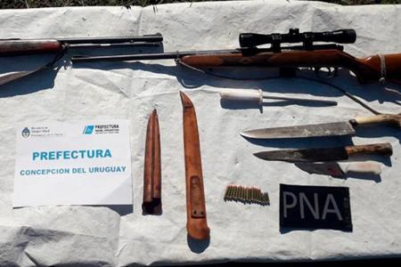 Prefectura secuestró armas utilizadas para caza ilegal