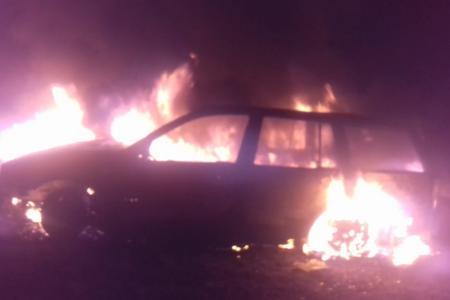 Un vehículo se incendió en ruta 12