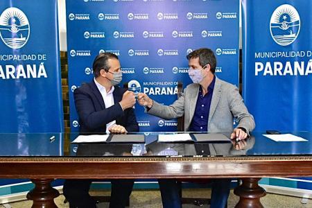 Adán Bahl con Enrique Cresto