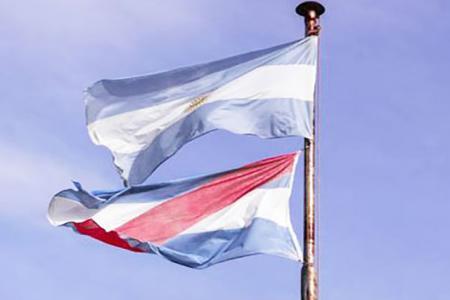 banderas Entre Ríos y argentina