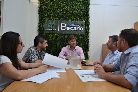 Sebastián Bértoli con Mario Kaplan