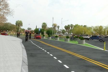 Bicivía en la Costanera