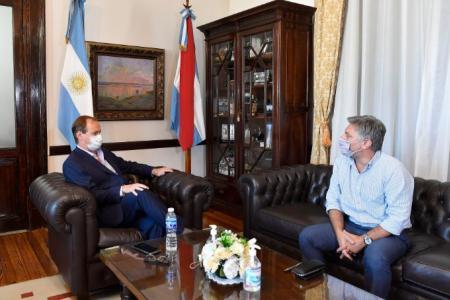 Bordet recibió al titular del Instituto Provincial del Seguro, Tomás Proske