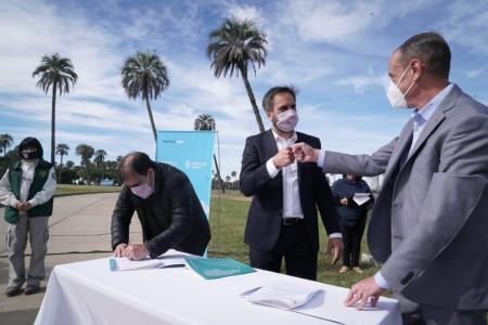 Desde El Palmar, Cabandié anunció millonaria inversión para tres parques nacionales