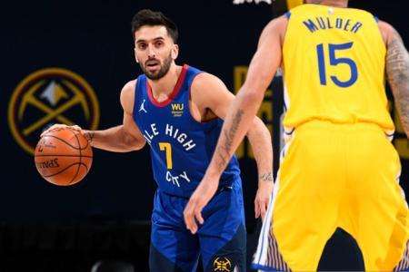 Con minutos para Campazzo, Denver Nuggets derrotó a Golden State en la NBA