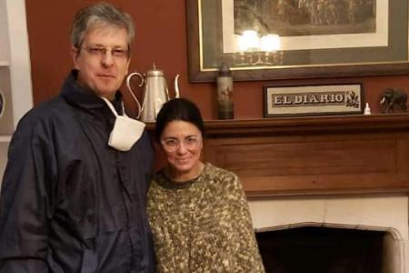 Mauricio Castaldo con Dolores Etchevehere