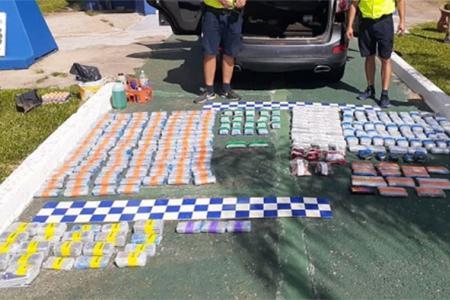La totalidad de la mercadería secuestrada ronda una cotización del millón de pesos.