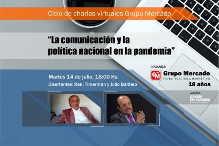 """Invitan a la charla virtual """"La comunicación y la política nacional en la pandemia"""""""