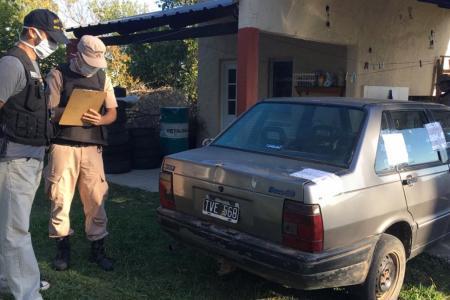 control policial auto secuestrado