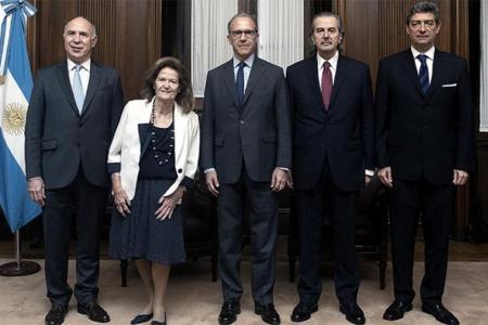 La Corte y sus cinco integrantes. Ya habría consenso para determinar al sucesor de Carlos Rosenkrantz.
