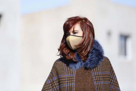 Cristina Kirchner en un acto político en Ensenada.