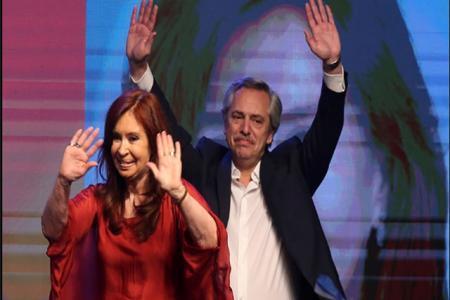 Cristina Fernández con Alberto Fernández