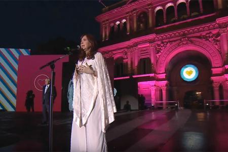 Cristina Fernández discurso asunción