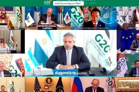 Imagen de archivo del G20 que había sido virtual por la pandemia del Covid-19. Este año será presencial en Italia.
