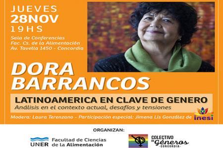 Dora Barrancos en Concordia