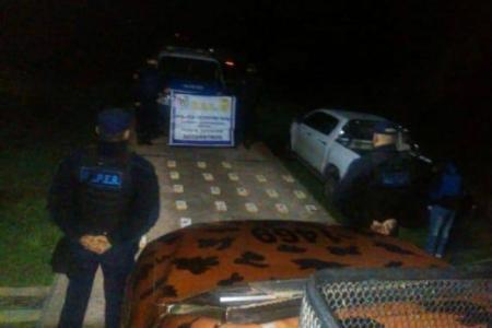 Encontraron 43 kilos de cocaína en un campo en Departamento Uruguay