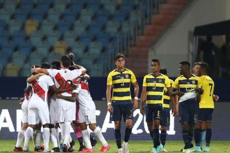 Fútbol: Ecuador y Perú empataron en un partido lleno de goles por la Copa América