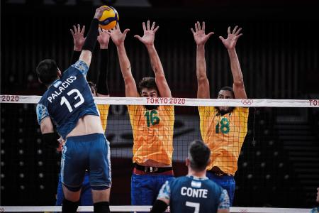 Vóley: Argentina estuvo cerca del batacazo, pero no pudo con el campeón olímpico