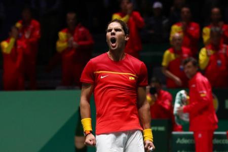 Tenis: Nadal puso el empate para España con un categórico triunfo sobre Schwartzman