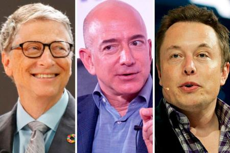 Bill Gates, Jeff Bezos y Elon Musk