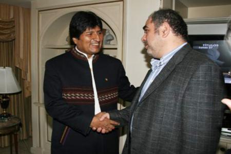 Evo Morales con Santiago O´Donnell