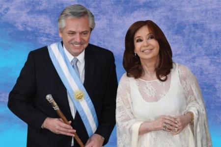 Alberto Fernández junto a Cristina Fernández