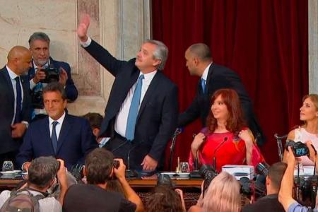 Alberto Fernández en la apertura de sesiones del Congreso, el 1° de marzo de 2020. (Foto: archivo)