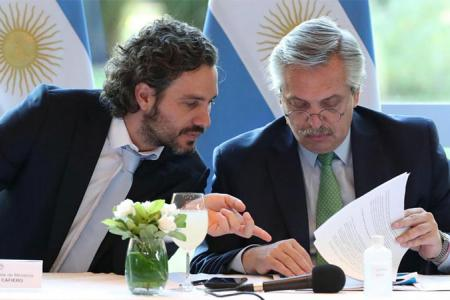 Fernández con Cafiero