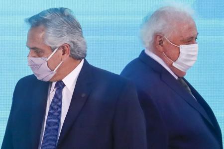 Alberto Fernández con Ginés González García