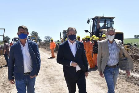 Bordet se interiorizó de la marcha de las obras en rutas nacionales