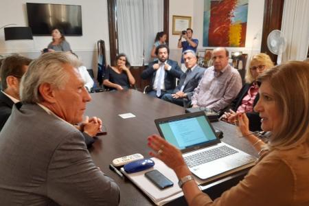 Rosario Romero con diputados de Cambiemos