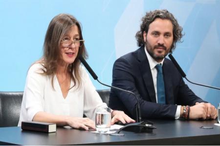 Sabina Frederic junto a Santiago Cafiero