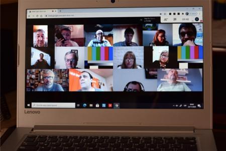 Frente Gremial conferencia virtual