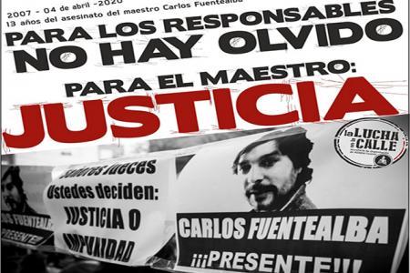 Carlos Fuentealba pedido de Justicia