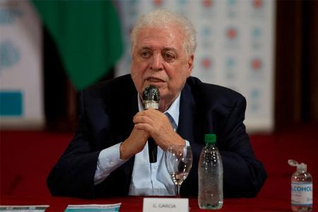 El ministro de Salud, Ginés González García, habló tras la reunión con el Presidente en la Quinta de Olivos.