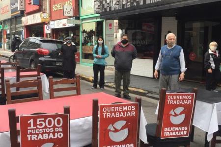 protesta de gastronómicos en Paraná