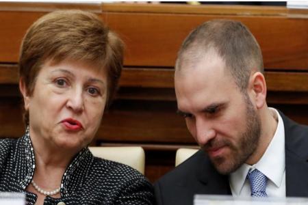 Martín Guzmán con Georgieva