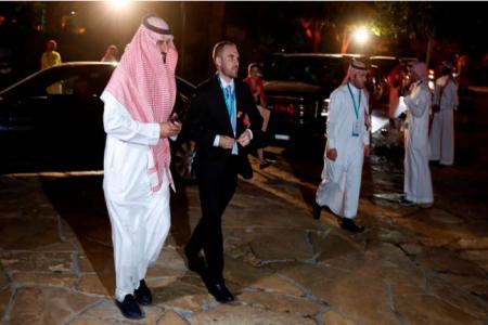 Guzmán, durante la reunión del G20, que se desarrolla en Arabia