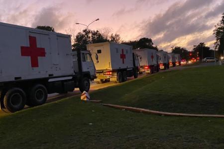 Movilizan el Hospital Militar donado por China por falta de camas de terapia en Conurbano