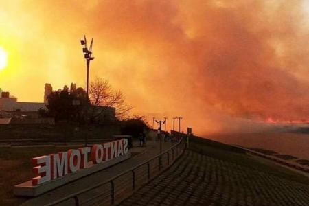 Incendio en Santo Tomé
